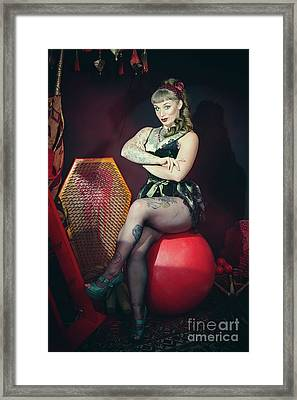Circus Performer Framed Print by Amanda Elwell