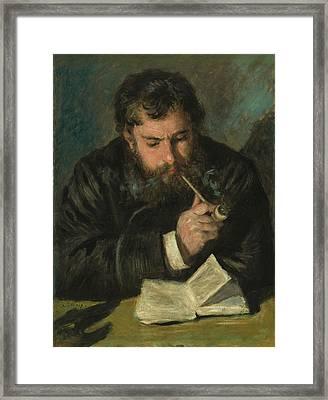 Claude Monet Framed Print by Auguste Renoir