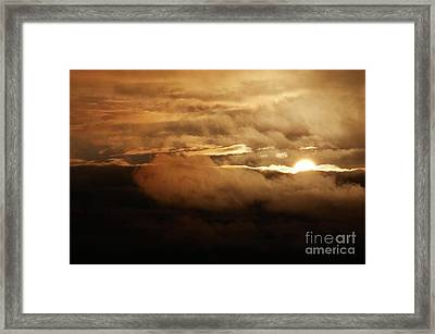 Clouds At Sunset Framed Print by Michal Boubin