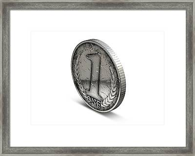 Coin Number One Framed Print by Allan Swart