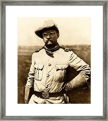 Colonel Theodore Roosevelt Framed Print by War Is Hell Store