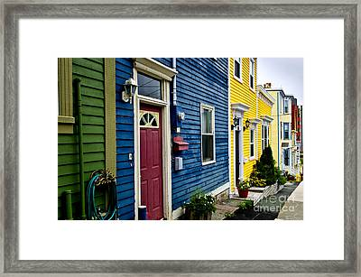 Colorful Houses In St. John's Framed Print