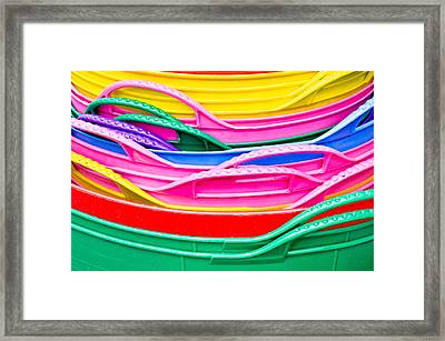 Colorful Plastic Framed Print