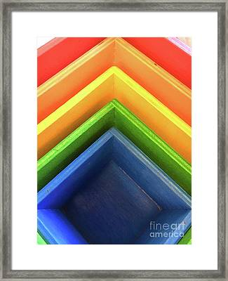 Colourful Wooden Toy Framed Print