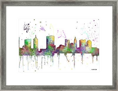 Columbus Ohio Skyline Framed Print