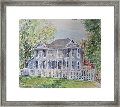 Commissioned Home Portrait Framed Print by Gloria Turner
