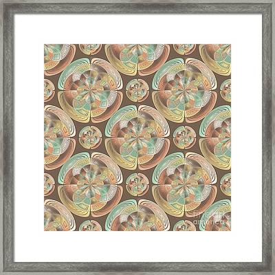 Complex Geometric Pattern Framed Print
