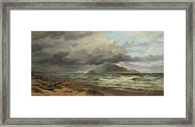 Cook Strait, New Zealand, Framed Print by Nicholas Chevalier
