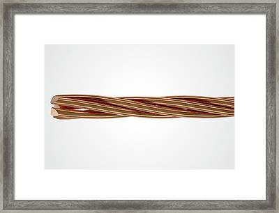 Copper Wire Strands Framed Print