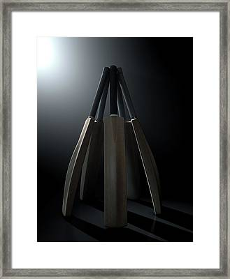 Cricket Back Circle Dramatic Framed Print