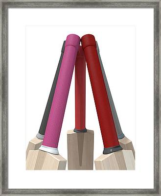 Cricket Bat Circle Framed Print by Allan Swart