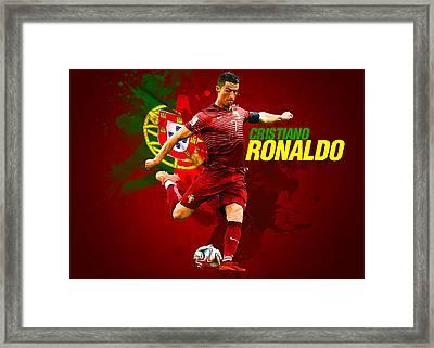 Cristiano Ronaldo Framed Print by Semih Yurdabak