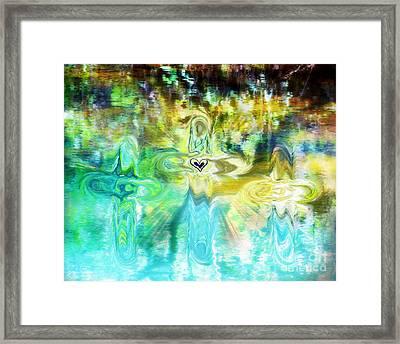 3 Crosses Framed Print by Anita Faye