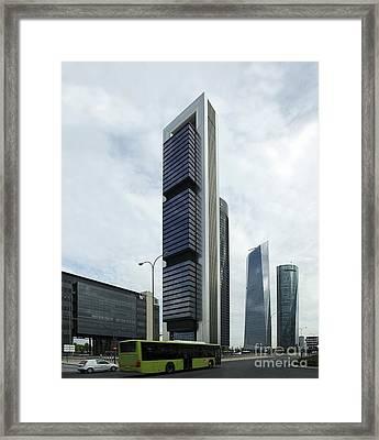 Ctba Skyscrapers, Madrid Framed Print