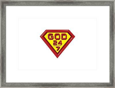 3 D Red/yellow Designer Design Framed Print