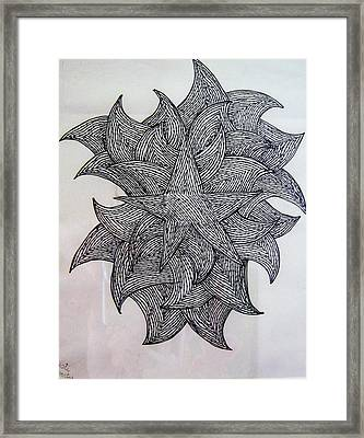 3 D Sketch Framed Print by Barbara Yearty