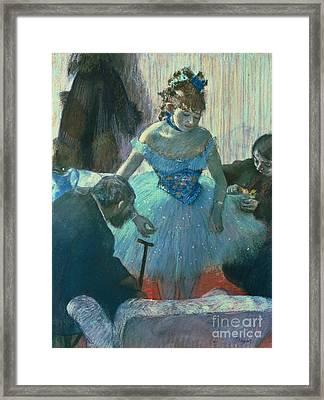 Dancer In Her Dressing Room Framed Print