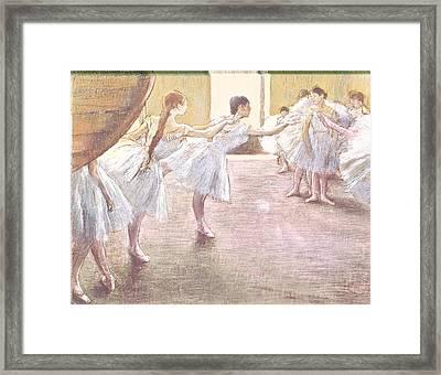 Dancers At Rehearsal Framed Print