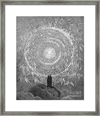 Framed Print featuring the photograph Dante Paradise by Gustave Dore