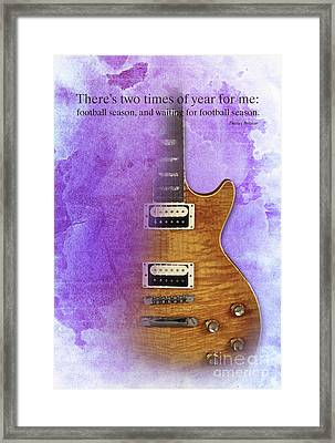 Darius Rucker Inspirational Quote, Electric Guitar Poster For Music Lovers And Musicians Framed Print by Pablo Franchi
