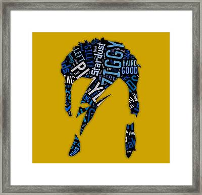 David Bowie Ziggy Stardust Song Lyrics Framed Print by Marvin Blaine