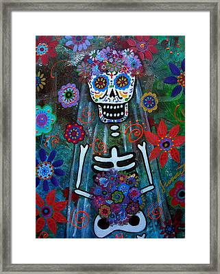 Day Of The Dead Bride Framed Print by Pristine Cartera Turkus