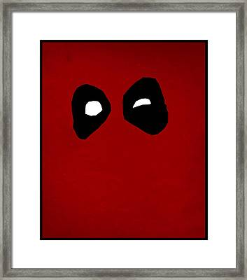 Deadpool Framed Print by Kyle West