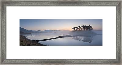 Derryclare Lough At Dawn, Connemara, Ireland Framed Print