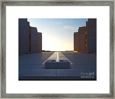 Design And Architecture Of The Salk Institute In La Jolla Califo Framed Print by ELITE IMAGE photography By Chad McDermott