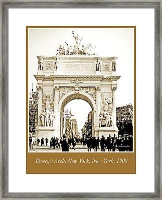 Dewey's Arch, New York, 1900, Vintage Photograph Framed Print by A Gurmankin