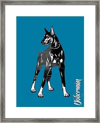 Doberman Pinscher Collection Framed Print by Marvin Blaine