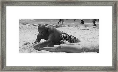 3 Dollar Sand Rub Down Framed Print