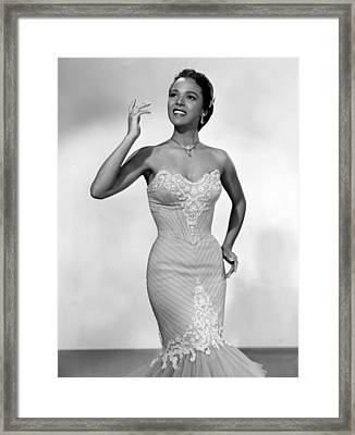 Dorothy Dandridge, Ca. 1950s Framed Print by Everett