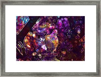 Framed Print featuring the digital art Dove Bird Feather Animal Plumage  by PixBreak Art