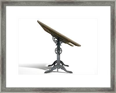 Drafting Table Framed Print by Allan Swart