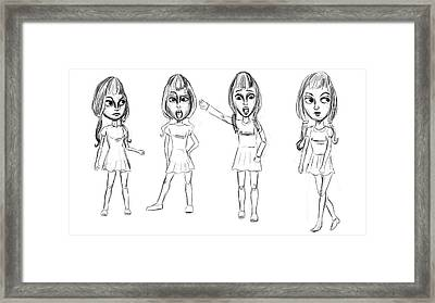 Drawing Framed Print by Bogdan Floridana Oana