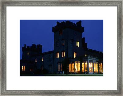 Dromoland Castle At Night Framed Print by Carl Purcell