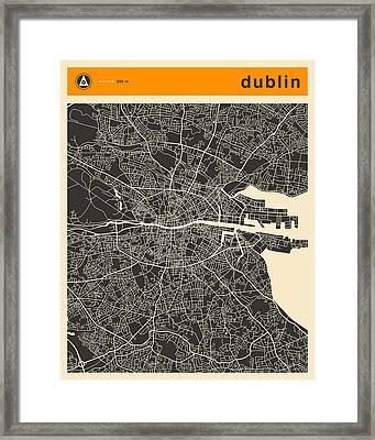 Dublin Map Framed Print