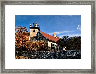 Eagle Bluff Lighthouse Framed Print