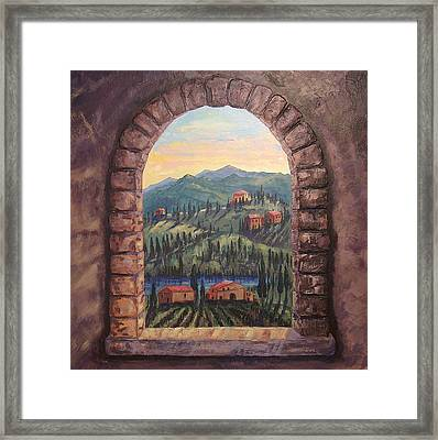 Earth Light Series Lights On Framed Print by Len Sodenkamp