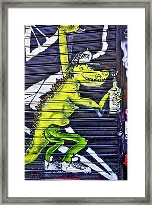 East Village Street Art 2014 Framed Print by Joan Reese