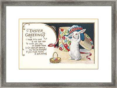 Easter Greetings Framed Print by David and Lynn Keller