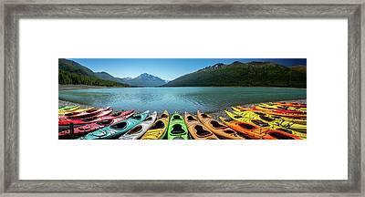 Eklutna Lake Alaska Framed Print by Jon Manjeot