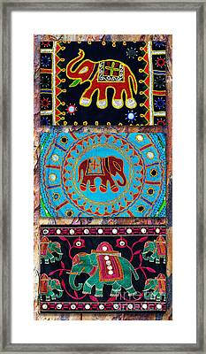 3 Elephants Framed Print by Tim Gainey