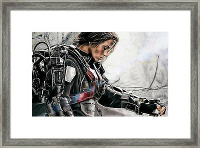 Emily Blunt Collection Framed Print by Marvin Blaine