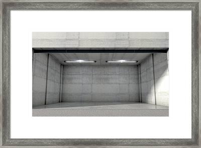 Empty Double Garage Framed Print