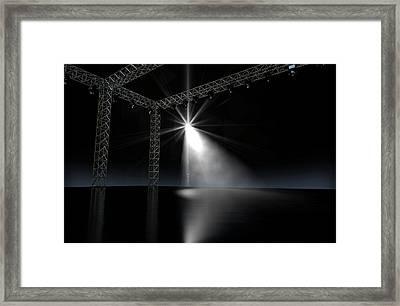 Empty Stage Spotlit Framed Print