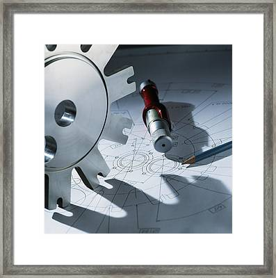 Engineering Equipment Framed Print by Tek Image