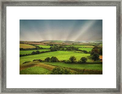 English Countryside Framed Print by Martin Newman
