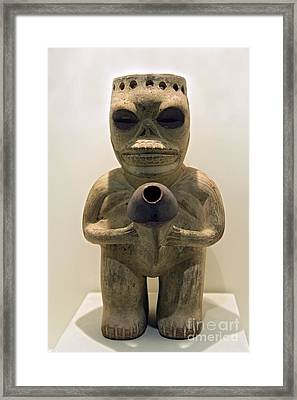Erotic Sculpture, Moche Epoch Framed Print by Tony Camacho